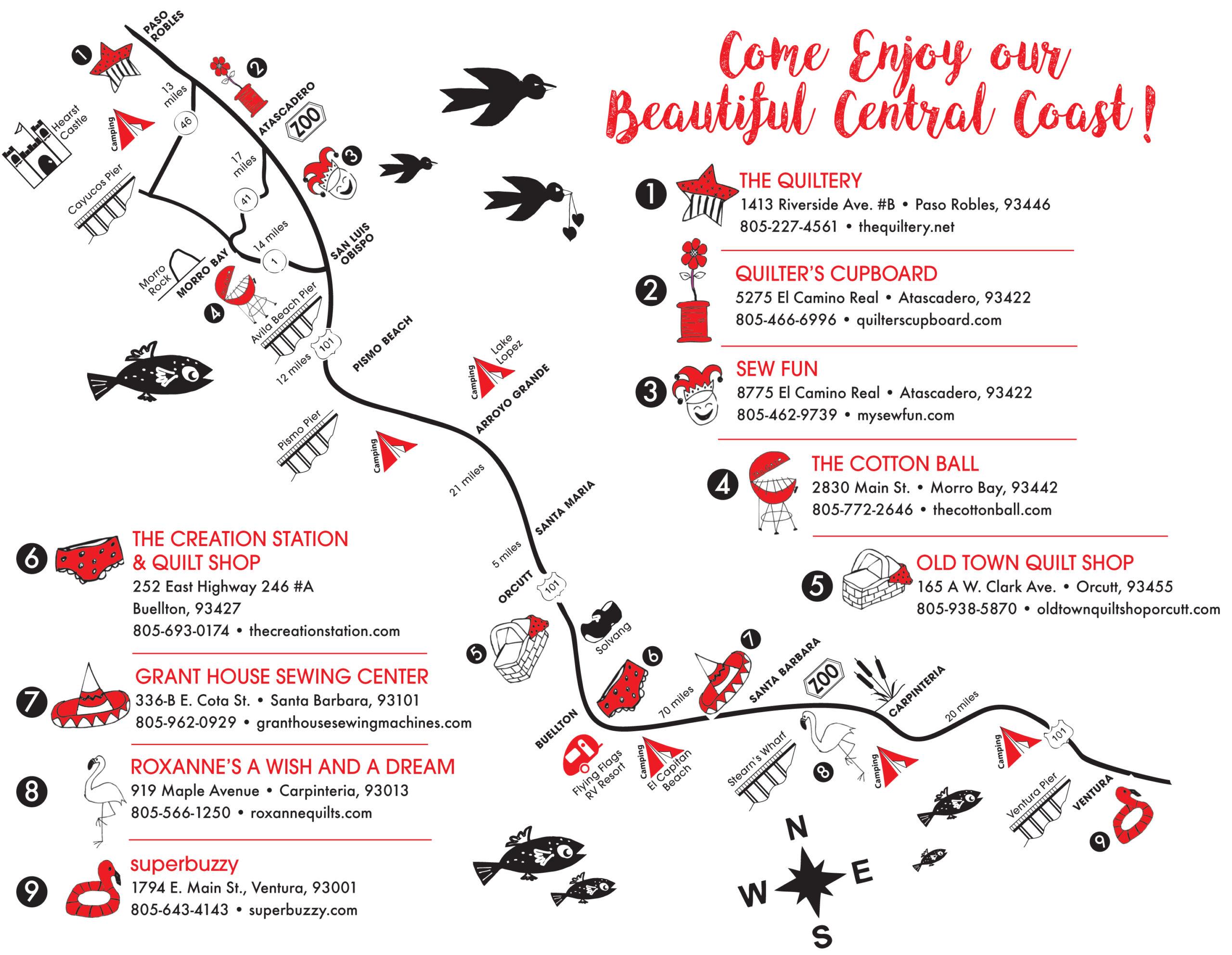 Shop Tour 2022 Map